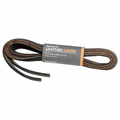 TIMBERLAND REPLACEMENT LACES RAWHIDE SEAWEED BROWN LEATHER FLAT SHOELACES 44in