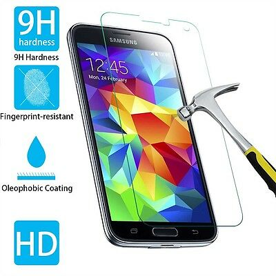 """Tempered Glass Screen Protector Film For Samsung Galaxy S5 100% 99.9 5.1"""" Newest"""
