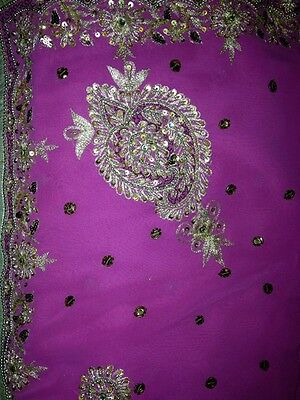 Pink/purple sari with blouse