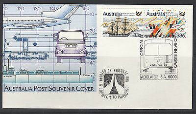 O-Bahn Busway Opening Official Cover Pair 33c stamps Carried on Inaugural Run 86