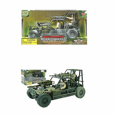 World PeaceKeepers Army Military Buggy Toy Vehicle With Army Figures 3+ Years