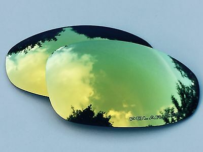 NEW ENGRAVED POLARIZED 24k GOLD CUSTOM MIRRORED REPLACEMENT OAKLEY JULIET LENSES