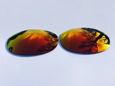 New Polarized Fire Red Mirrored Replacement Oakley E Wire 2.1 Lenses