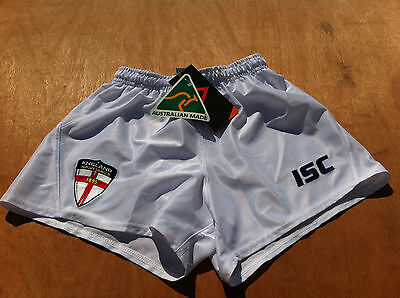 BNWT Official ISC Boys England Rugby League Game day match shorts 10 12 yr lions
