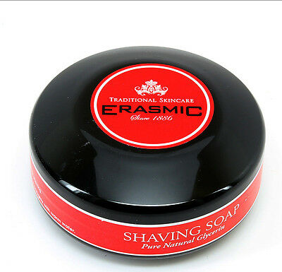 3 X Erasmic Lather Shave Soap 75g Tub