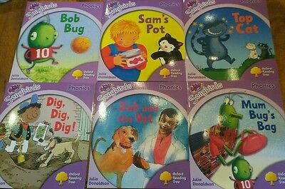 Oxford Reading Tree Stage Level 1+ Songbirds Phonics 6 books NEW Julia Donaldson