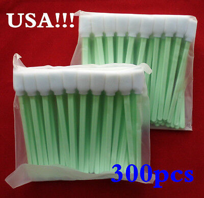 US Stock! 300pcs Solvent Cleaning Foam Swabs Swab Epson Roland Mimaki Mutoh