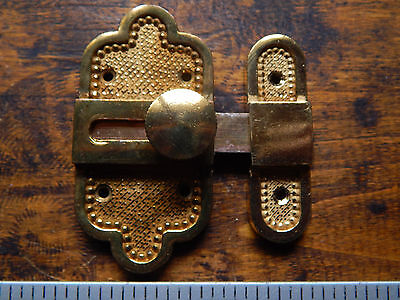 vintage French ornate brass Slide Bolt ,Latch ,Lock