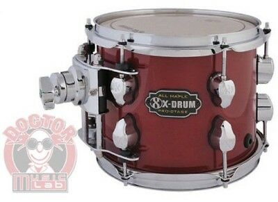 X-DRUM PRO-STAGE Tom PM2-TT0807-RD COLORE ROSSO