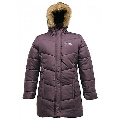 Regatta Blissfull II Girls Water-Rplnt Quilted Padded Jacket Purple