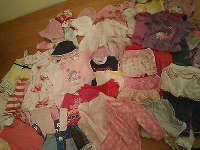60 pcs of baby girl clothes (size 00) bulk lot 3-6 months