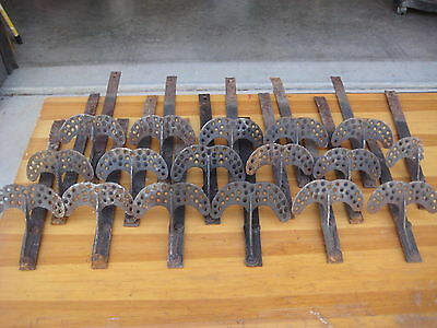 16 Antique Vintage Iron Hammered Black Roof Snow Bird Ice Catcher Guards