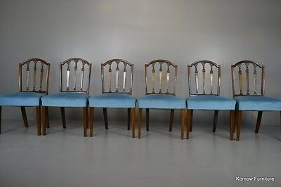 Set 6 Antique Mahogany Dining Chairs