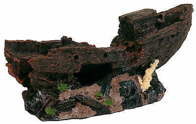 Rustic Shipwreck Decoration Fish Cave Ornament for Aquarium Fish Tank