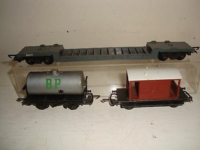 Tri-ang (Rovex) TT- 3 goods vehicles T173/T73/T72 all unboxd fair to good  c1960