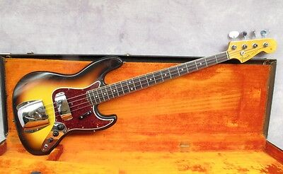 1966 Fender Jazz Bass -  Sunburst - Dot & Bound - Andy Baxter Bass