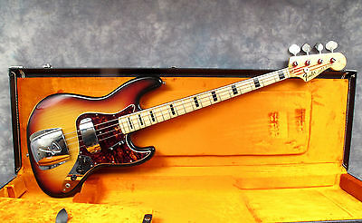 1972 Fender Jazz - Sunburst - Maple Board & Black Blocks - Andy Baxter Bass