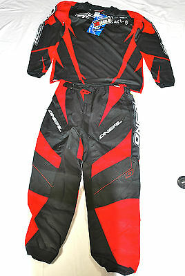 Oneal Element Adult Kit Motocross Motox Quad Combo Shirt & Pants Trousers Red