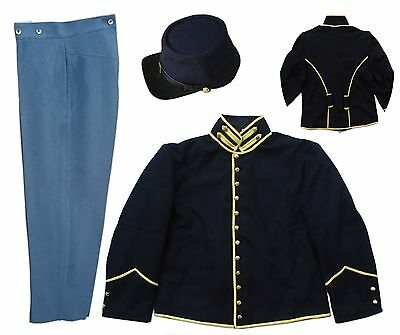 AMERICAN CIVIL WAR Cavalry uniform includes Shell Jacket, Trousers and Kepi