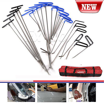 21× PDR Push Rods Whale Tail Set Auto Body Tools Dent Ding Repair Hail Removal