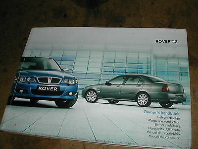 Rover 45,Facelift,03 on,Owners handbook