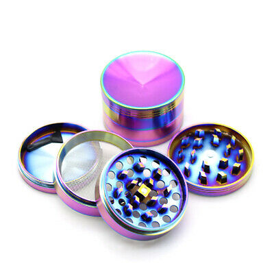 Concave Top Dry Herb Tobacco Grinder 40mm 4 Part Metal Magnetic Spice Pollinator