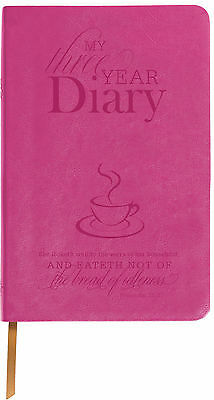 Raspberry Leather 3 Year Diary