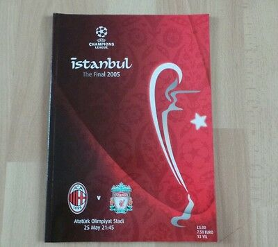 2005 Champions League Final .liverpool V Ac Milan Programme
