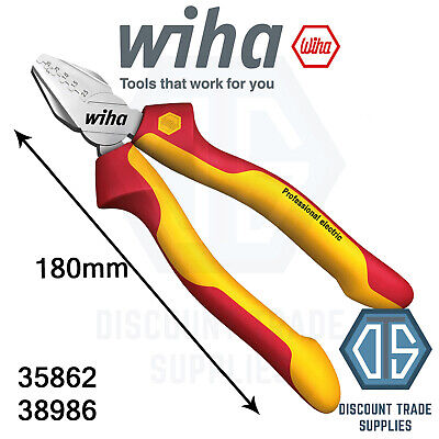 Wiha 35862 Professional Electric Crimping Pliers 180mm Insulated 38986 Crimper