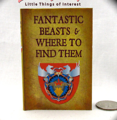 FANTASTIC BEASTS AND WHERE TO FIND THEM 1:3 Scale Readable Book HARRY POTTER