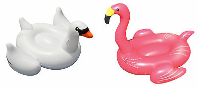 Giant Inflatable Swan and Flamingo Water Float Toy for Swimming Pools Pack
