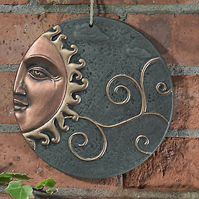 Sun Ceramic Wall Plaque Decorative Outdoor Hanging Garden Ornament Decoration