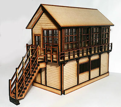 Handmade model railway Signal Box based on Dereham O Gauge 1:45 ready built wood