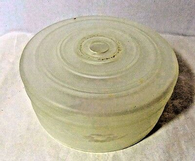 Vintage MID CENTURY MODERN CEILING LIGHT REPLACEMENT GLOBE Frosted Glass Drum 8""