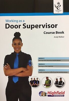 Working as a Door Supervisor Course Book 4th Edition 2017 Brand New Free UK Post