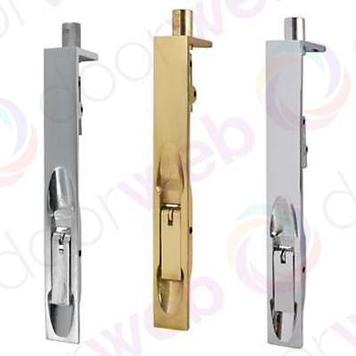 DOOR SLIDE BOLT Sliding Lever Action Flush Bolt Sprung Floor Corner Edge Frame