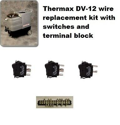 Thermax Therminator DV-12 rewire kit, complete with new switches and terminal bl