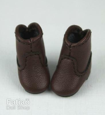 Fatiao New fit for pukipuki Brownie Middie Blythe BJD Doll Shoes Boots - Brown