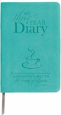 Teal Leather 3 Year Diary