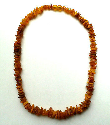 100% genuine Baltic amber necklace medicated adults ~18,5 inches