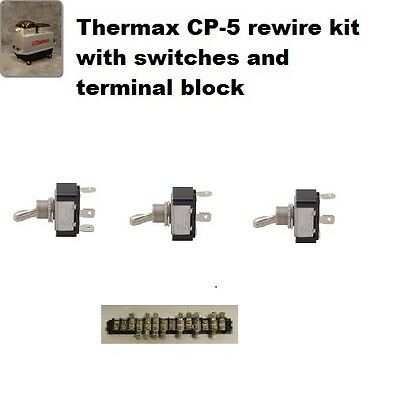 Thermax Therminator CP-5 rewire kit with switches and terminal block NEW