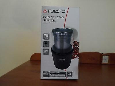 ELECTRIC GRINDER 200w FOR COFFEE/SPICE/NUTS/SEED WITH MANUAL NEW & BOXED