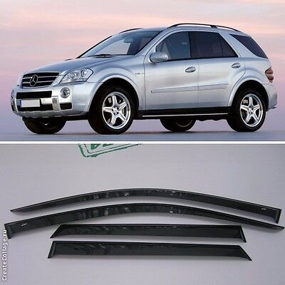For Mercedes M W164 2005-2011 Window Side Visors Sun Rain Guard Vent Deflectors