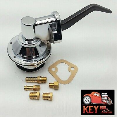 351w 289 302 221 260 Ford Chrome Plated Fuel Pump Mechanical Mustang Truck
