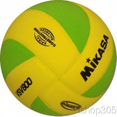 MIKASA VSV800-YG Squish Pillow Soft Indoor/Outdoor Volleyball Yellow/Green