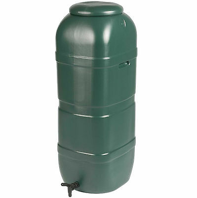 100 L Litre Strata Slim Garden Space Saver Rain Water Butt with Lid & Tap GN334