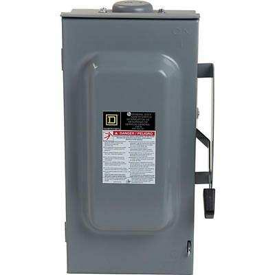 Square D 100 Amp 240-Volt 3-Pole Fusible Outdoor General Duty Safety Switch
