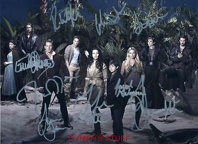 Once Upon A Time Cast Of 9 Signed Autograph Reprint #4