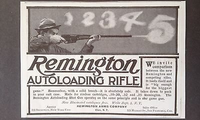 Antique 1907 Ad (Odl8)~Remington Autoloading Rifle. Ilion, Ny.