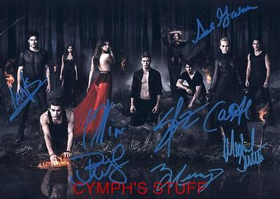 The Vampire Diaries Cast Of 8 Signed Autograph Reprint #55